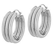 Triple Row Design 1 Hoop Earrings, 14K - J289289
