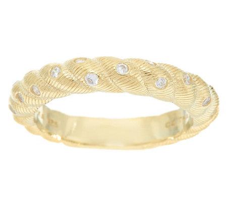 judith ripka 14k gold clad burnished diamonique ring