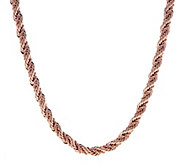 Bronze 18 Twisted Double Rope Chain Necklace by Bronzo Italia - J294289