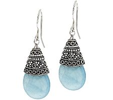 Artisan Crafted 22.00 cttw Milky Aquamarine Earrings