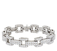 Judith Ripka Sterling 12.20 ct tw Diamonique Link 8 Bracelet - J295489