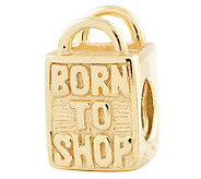Prerogatives 14K Gold-Plated Sterling Born to Shop Bead - J302689