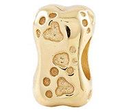 Prerogatives 14K Yellow Gold-Plated Sterling Dog Bone Bead - J302789