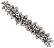 Vicenza Silver Sterling Bold Polished Bead Charm Bracelet, 60.7g - J317189