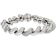 Vicenza Silver Sterling Crystal San Marco Bracelet, 25.1g - J320289