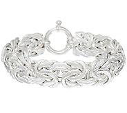 Sterling 6-3/4 Byzantine Bracelet by Silver Style, 21.5g - J321189
