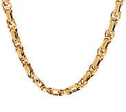 14K Gold 18 Dimensional Byzantine Necklace, 15.2g - J321589