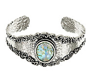 Or Paz Sterling Silver Gemstone or Roman Glass Lace Cuff - J322989