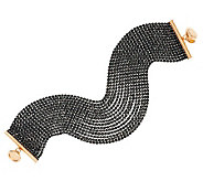 As Is Vicenza Silver Sterling 30.00 cttw Black Spinel Bracelet - J323489