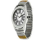 Stainless Steel Stretch Glitter Watch - J324189