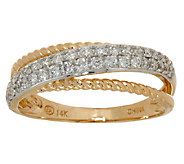 Diamond Rope Band Ring, 14K Gold, 1/3 cttw, by Affinity - J324589