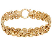 14K Gold 7-1/4 Fancy Oval Byzantine Bracelet, 8.5g - J324689