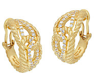 Judith Ripka Sterling & 14K Clad Diamonique Wrap Earrings - J325189
