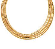 Bronze Multi-row Polished Collar Necklace by Bronzo Italia - J325789