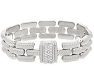 As Is Judith Ripka Sterling Verona Stampato Magnetic Clasp Bracelet - J328389