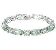 Colors of Quartz 8 Sterling Silver Tennis Bracelet 59.00 cttw - J329489