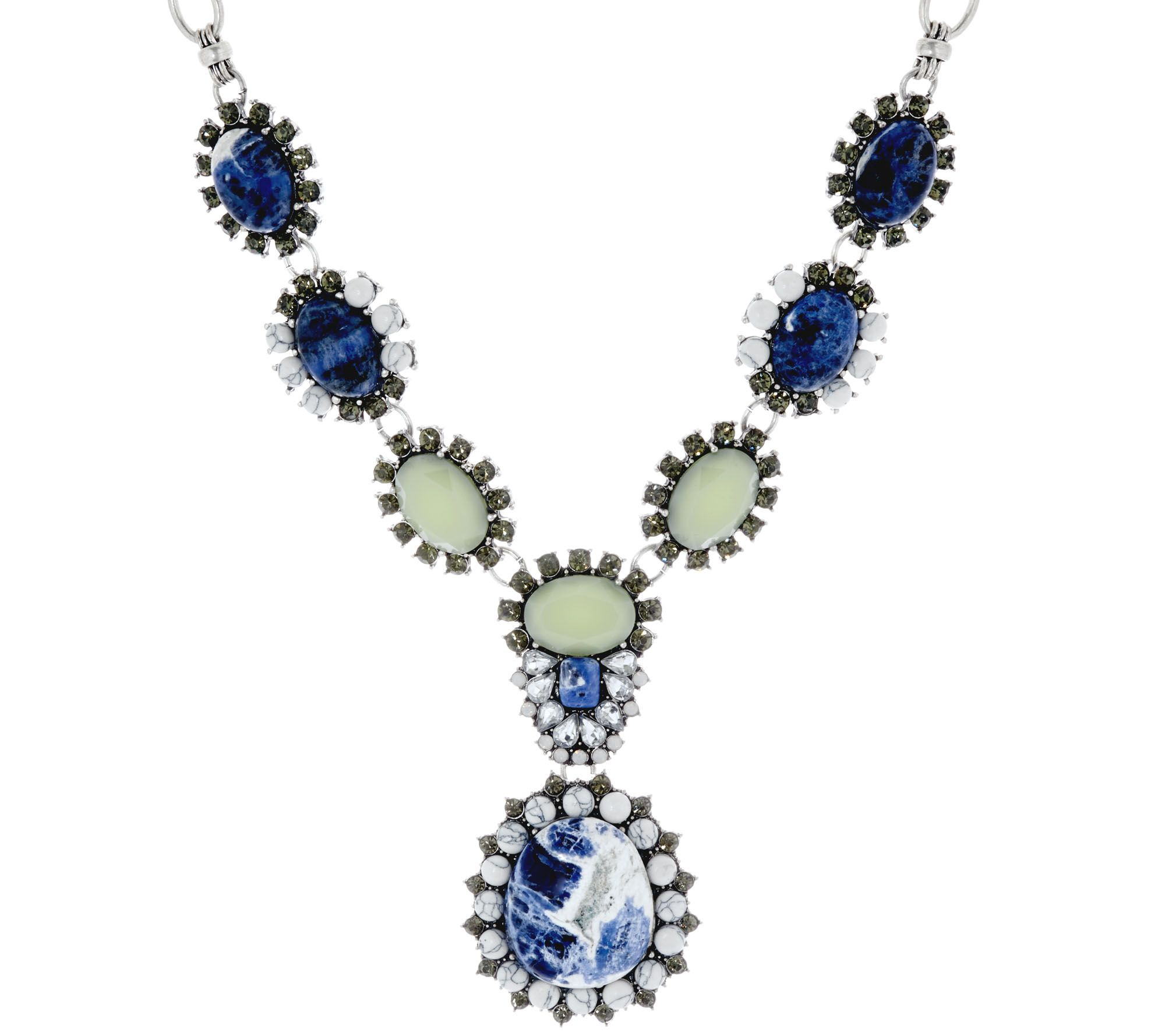 As is joan rivers gemstone 18 1 2 pendant necklace for Joan rivers jewelry necklaces