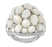 Judith Ripka Sterling Mother-of-Pearl Cluster Ring - J336389