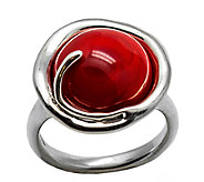 Kalos by Hagit Sterling Pomegranate Glass Ring - J337289