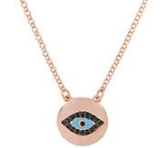 Bronze Gemstone or Crystal Evil Eye Necklace byBronzo Italia - J337789