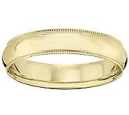 14K Gold 5mm Milgrain Comfort Fit Wedding BandRing - J340289