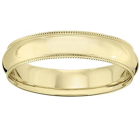 14K Gold 5mm Milgrain Comfort Fit Wedding BandRing
