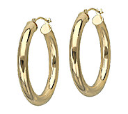 EternaGold 1-1/8 Polished Tube Hoop Earrings,14K Gold - J340489
