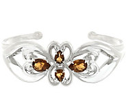 Carolyn Pollack Sterling 3.90ct Cognac CitrineCuff - J341489