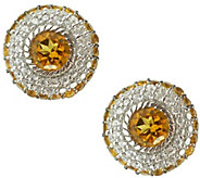 Judith Ripka Sterling Diamonique & Birthstone Earrings - J341589