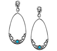 Carolyn Pollack Sleeping Beauty Turquoise Dangle Earrings - J341789