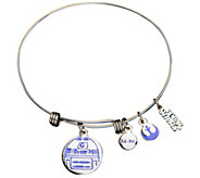 Star Wars Stainless Steel R2-D2 Expandable Charm Bracelet - J342689