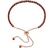 Sterling Silver 3.75 cttw Garnet Adjustable Tennis Bracelet - J343289
