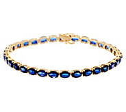 Ruby, Emerald, or Sapphire 8 Tennis Bracelet,14K - J343789