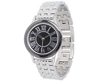 Stainless Steel Panther Link Watch with CeramicAccent - J344389