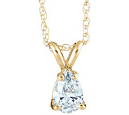 Pear Diamond Pendant, 14K Yellow Gold, 3/4 ct,by Affinity - J345289