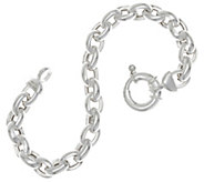 UltraFine Silver 7-1/4 Polished Rolo Link Bracelet 14.9g - J347389