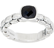 JAI Sterling Silver Gemstone Box Chain Ring - J351689