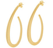 As Is Bronze 1-1/2 Fancy J Hoop Earrings by Bronzo Italia - J352089