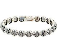 Or Paz Sterling Silver Sunflower Tennis Bracelet 18.0g - J354989