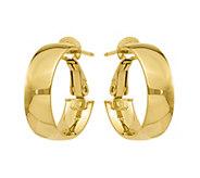 14K Gold Polished Hoop Earrings - J374789