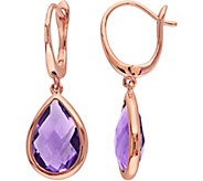 4.75 cttw Amethyst Dangle Earrings, 14K Rose Gold - J376089
