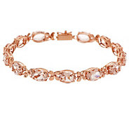 Premier Oval Morganite & Floral Design 8 Tennis Bracelet, 14K - J268890