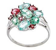 2.30 ct tw Colors of Tourmaline Cluster Design Ring, 14K - J270590