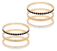 Susan Graver Set of 6 Goldtone Bangles - J283490