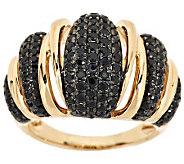 1.35 ct tw Black Spinel Domed Ring, 14K Gold - J284690