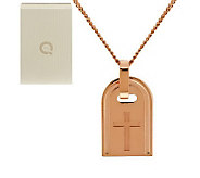 Bronzo Italia Rose Bronze Symbol Tag Necklace - J285190