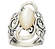 Carolyn Pollack Mother-of-Pearl Scroll Design Sterling Ring - J287890