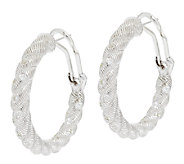 Judith Ripka Sterling Burnished Diamonique Hoop Earrings - J291790