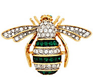 Joan Rivers Jeweled Estate Style Bee Pin - J293090