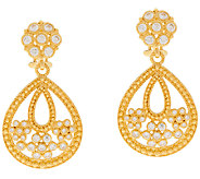 Judith Ripka Sterling & 14K Clad Drop Earrings - J296490